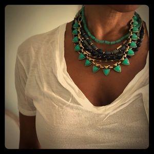 Stella and Dot multi strand statement necklace